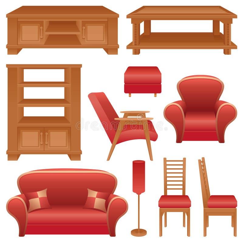 Set meble dla pokoju royalty ilustracja