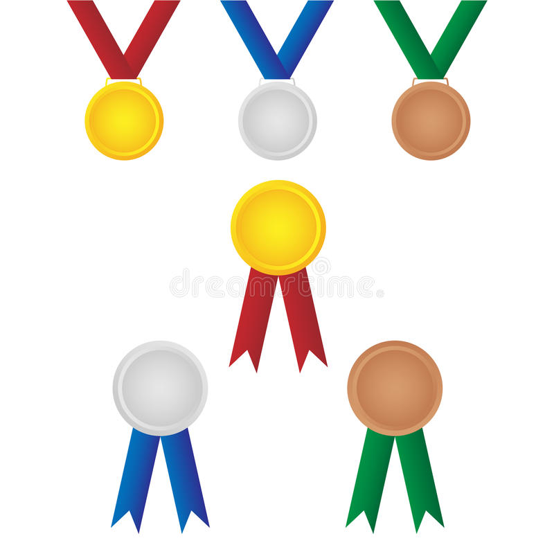 Download Set of medals winner stock vector. Illustration of blue - 13603570