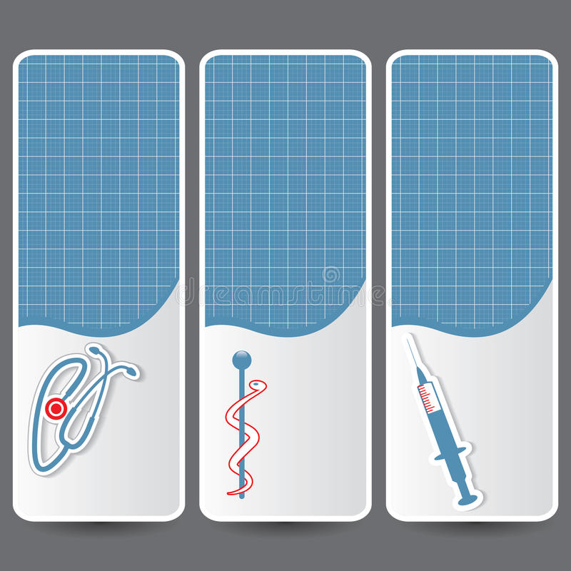 Set of medical banners or website. Headers vector illustration