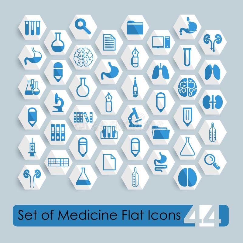 Set of medical flat icons royalty free illustration