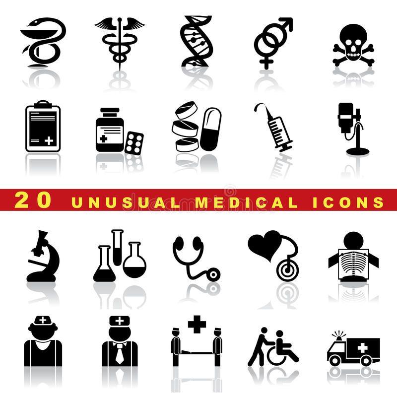 Set Medical Icons Stock Images