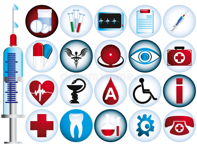 Set of medical icons vector illustration