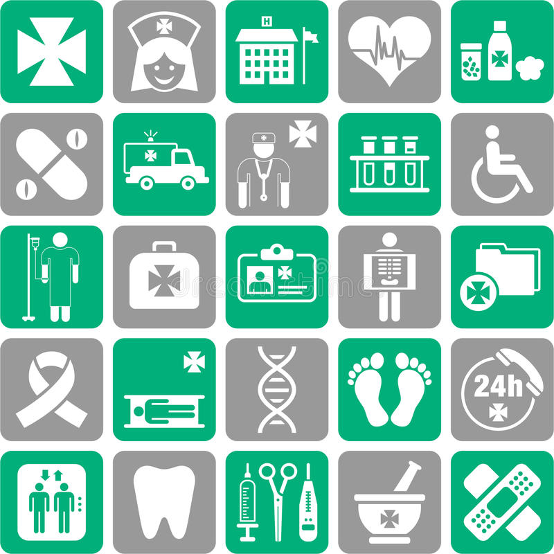 Download Set of medical icons stock vector. Image of illustrated - 34689161