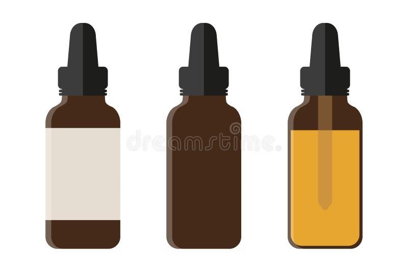 Set of medical phial isoladet on white background vector illustration