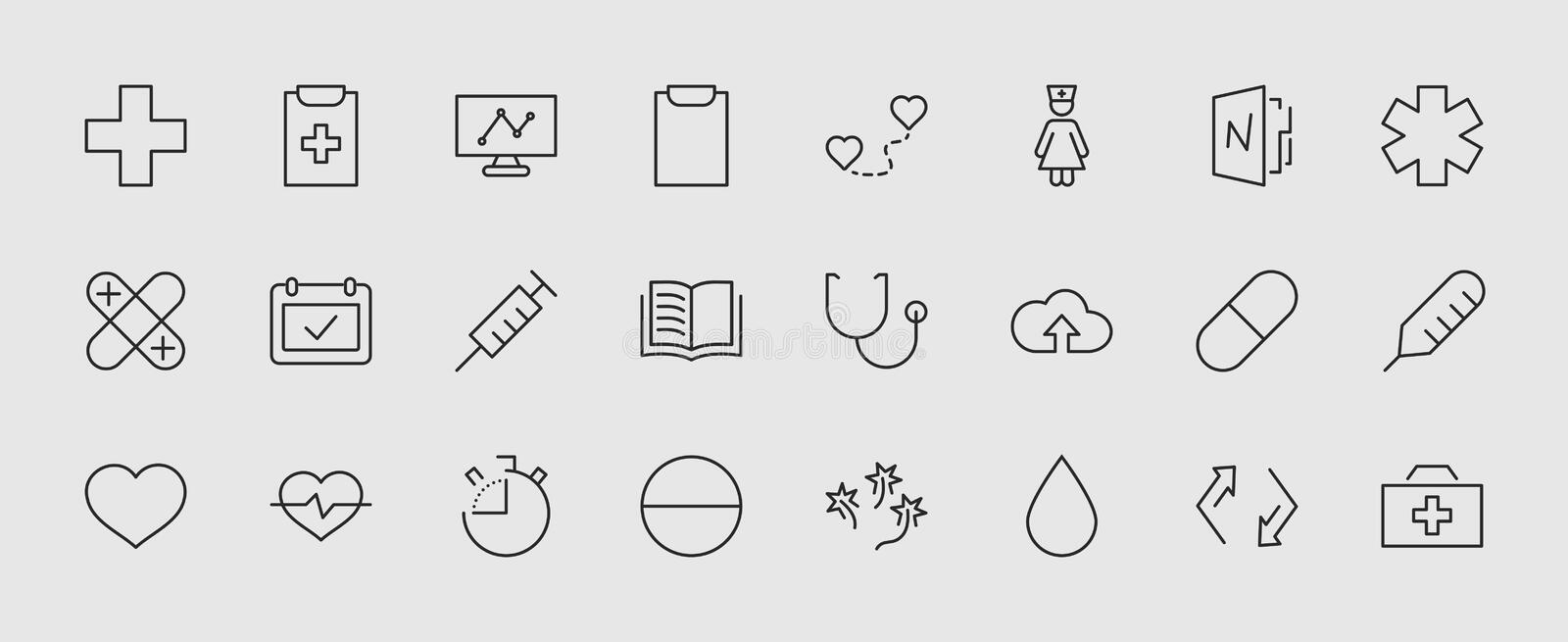 Set Of Medicine Vector Line Icons  It Contains The First Aid