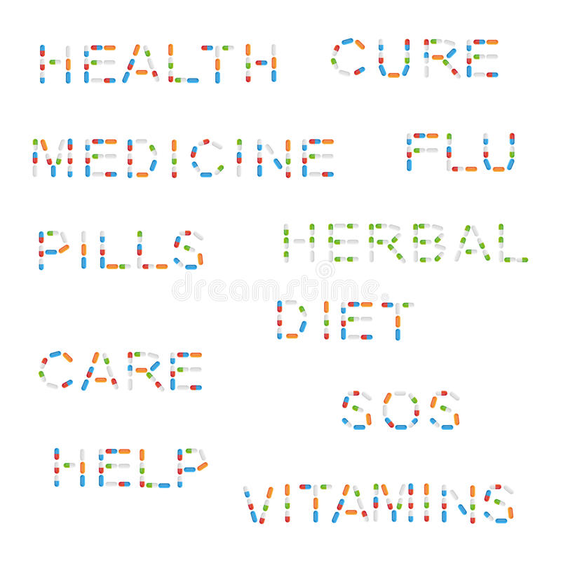 Medicine Words With Pills Royalty Free Stock Image