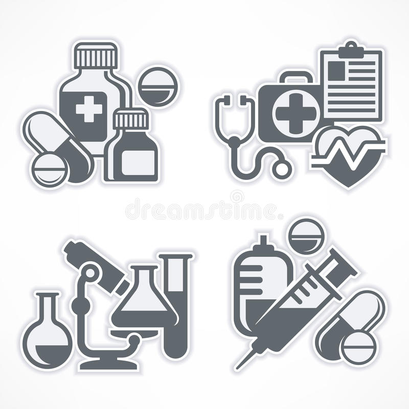Download Set of medicines symbols stock vector. Image of heart - 83700890