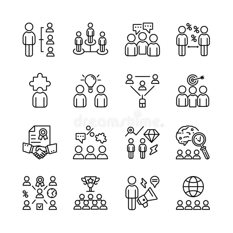 Set of meeting icons royalty free stock photo