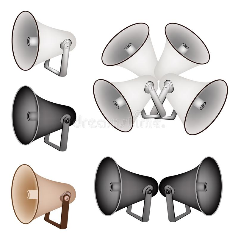 A Set Of Megaphone On White Background Royalty Free Stock Image