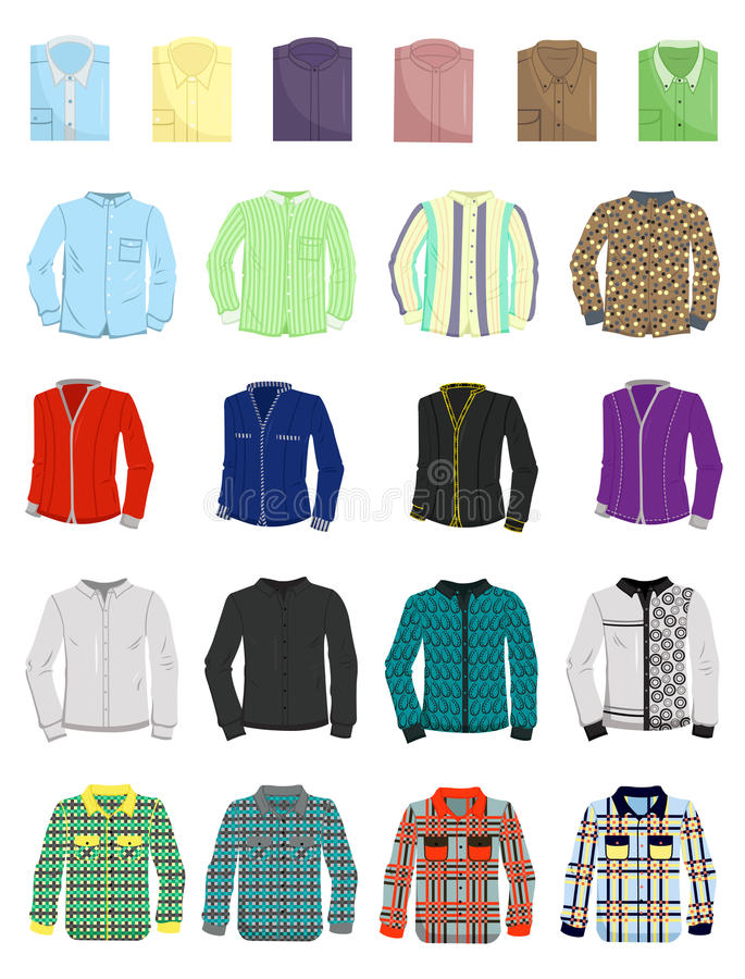 Download A set of mens shirts stock vector. Image of fashion, neat - 32470414