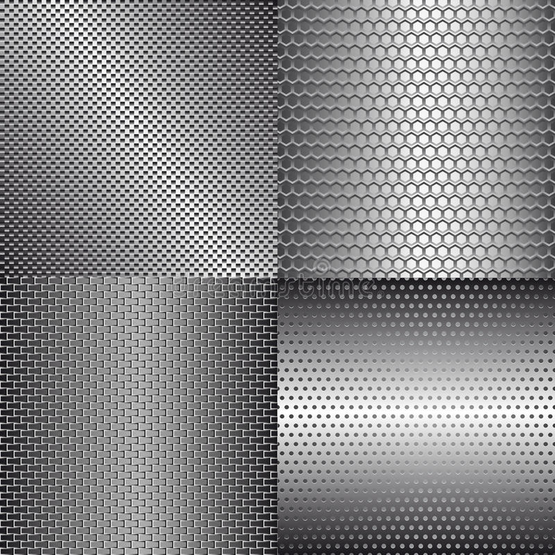 Download Set of metal backgrounds stock vector. Image of backdrop - 18276809