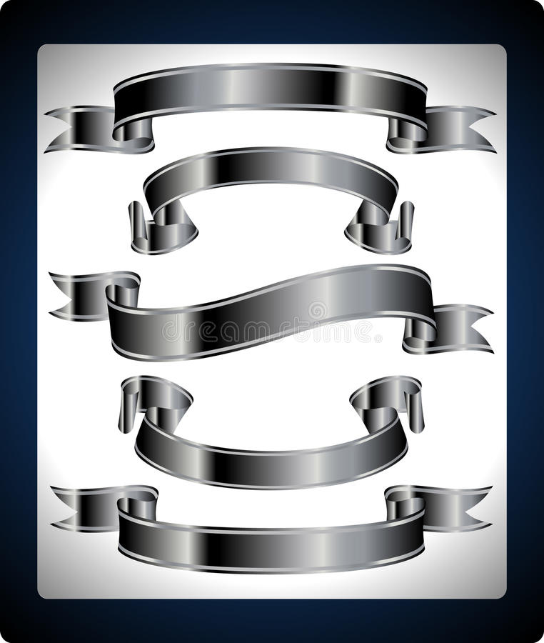 A set of metal banners vector illustration