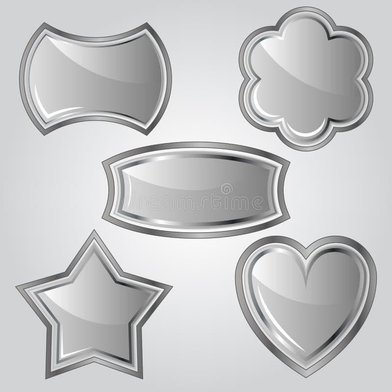 Download Set of metal labels stock vector. Illustration of clipart - 27625983