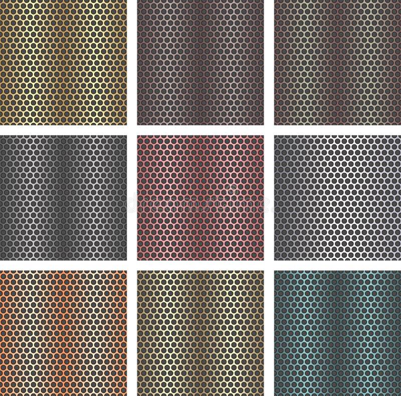 Set metali bezszwowi tła ilustracja wektor