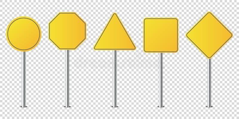 Set metali drogowych znaków odosobniony puste miejsce royalty ilustracja