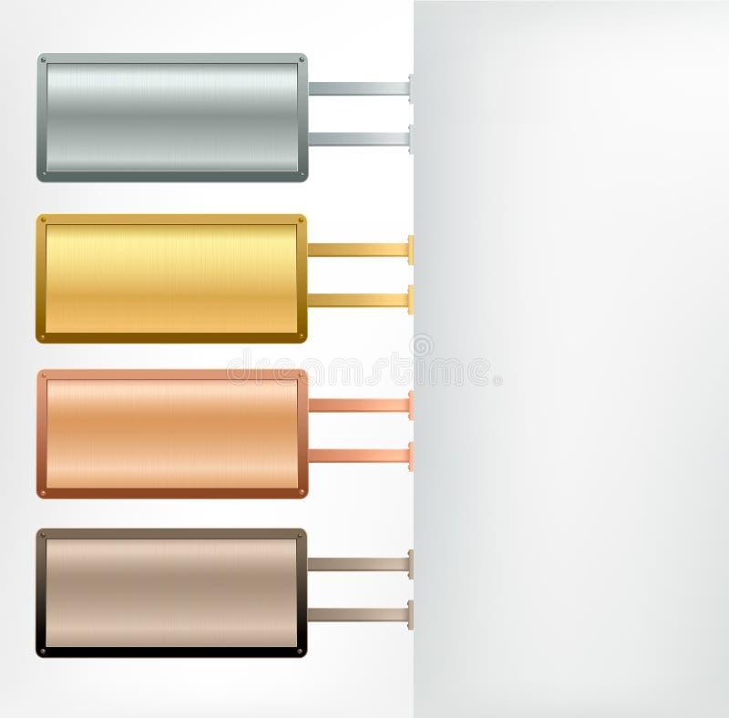 Download Set Of Metallic Banners.Vector. Stock Photo - Image: 19531770