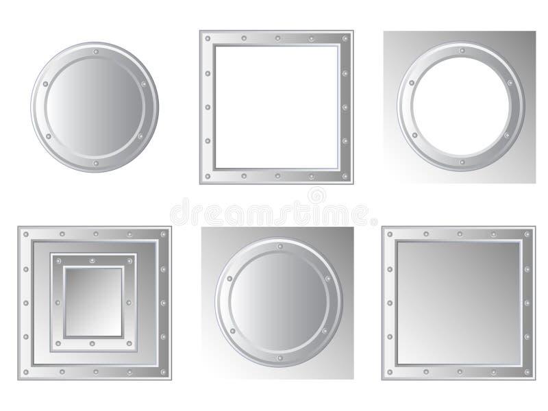 Set metallische Felder lizenzfreie abbildung