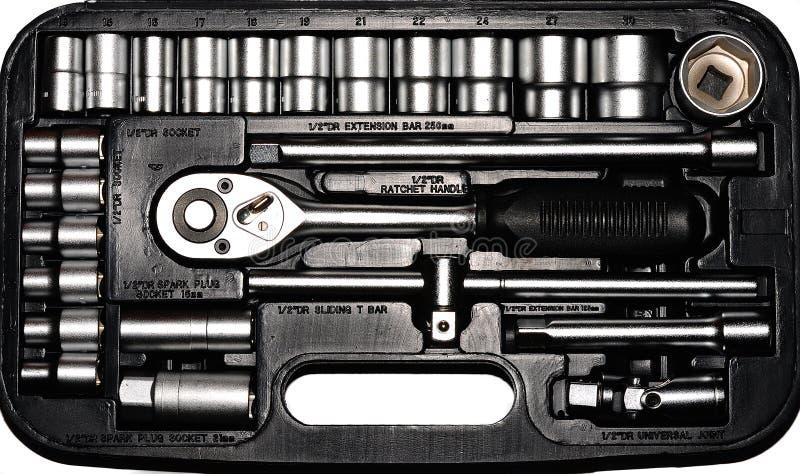 Set metallische Hilfsmittel lizenzfreies stockbild