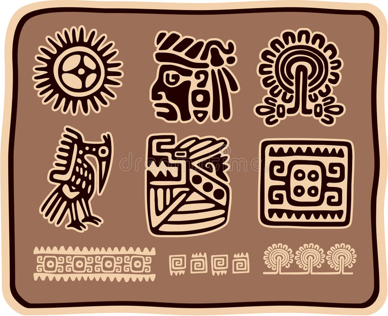 Set of Mexican Design Elements stock illustration