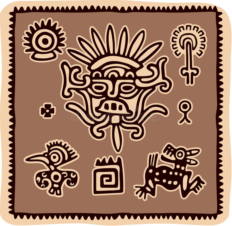 Set of Mexican Design Elements royalty free illustration