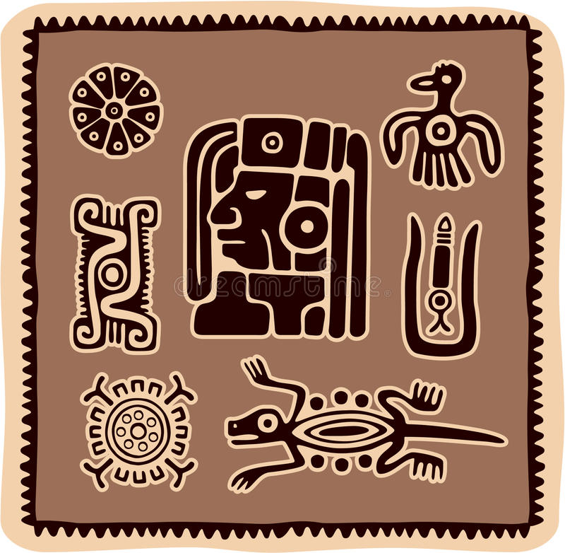 Set of Mexican Design Elements stock illustration