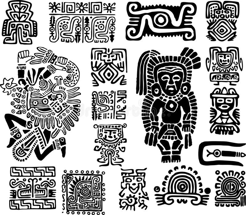 Download Set mexican symbols stock vector. Image of abstract, baroque - 23804207