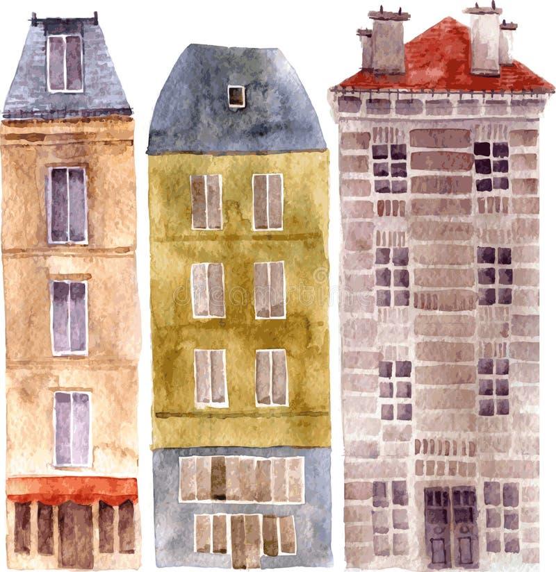 Set miasto przedmioty ilustracji