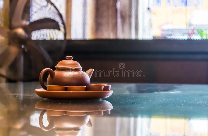 A Clay Kettle Sets royalty free stock photos