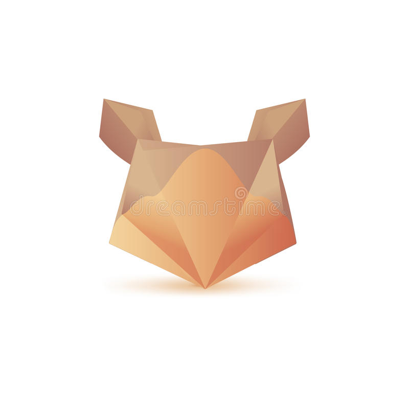 Set of minimal geometric animal low poly symbol set, shapes. Trendy icons and logotypes. Business signs, labels, badges, frames an. Set of symbol and shapes stock illustration