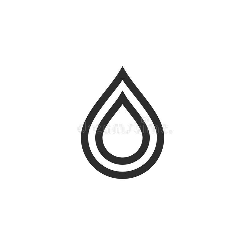 set of minimalist Water Drop Logo vector icon illustration stock illustration