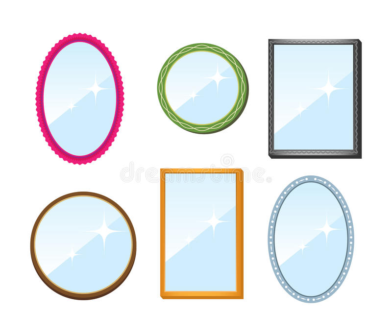 Download Set of mirrors stock vector. Image of sign, sparkling - 17277693