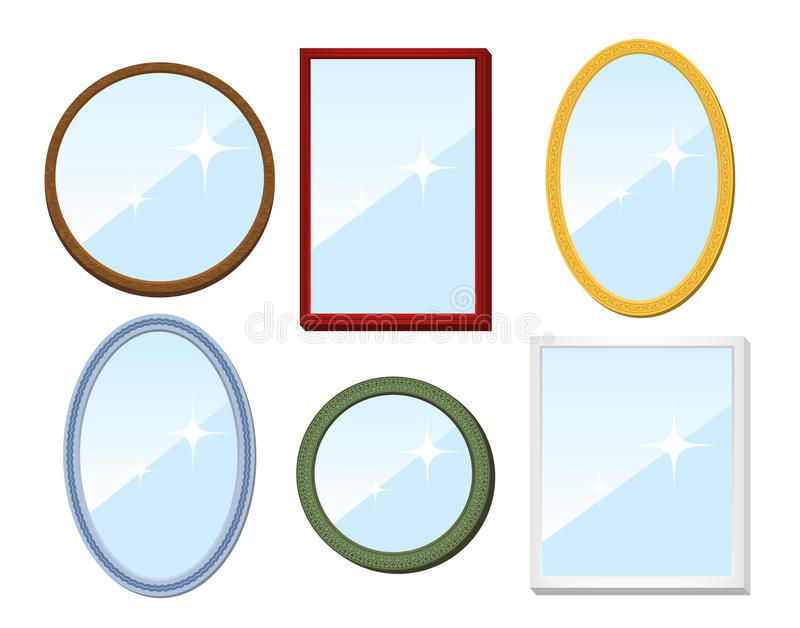Download Set of mirrors stock vector. Image of decor, decoration - 20250778
