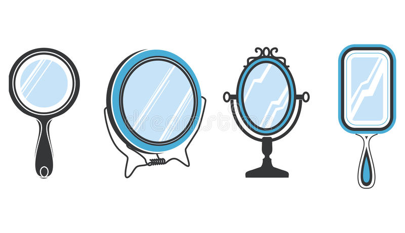 Download Set of mirrors stock vector. Image of portrait, blue - 20490537