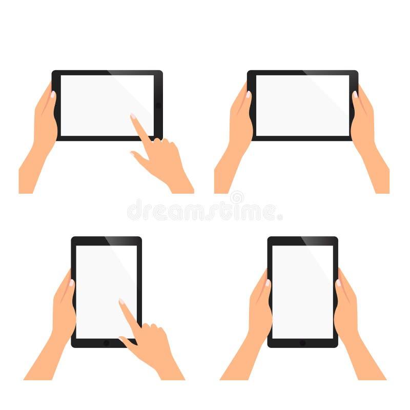 Set mobilna kobiety ręka zdjęcie stock