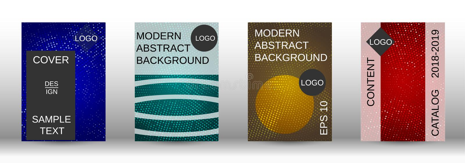 Set of modern abstract covers. stock illustration