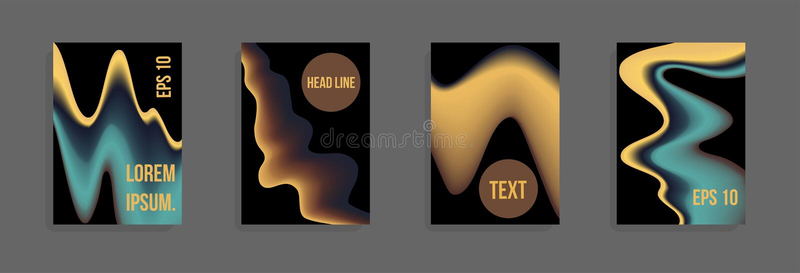A set of modern abstract covers. vector illustration
