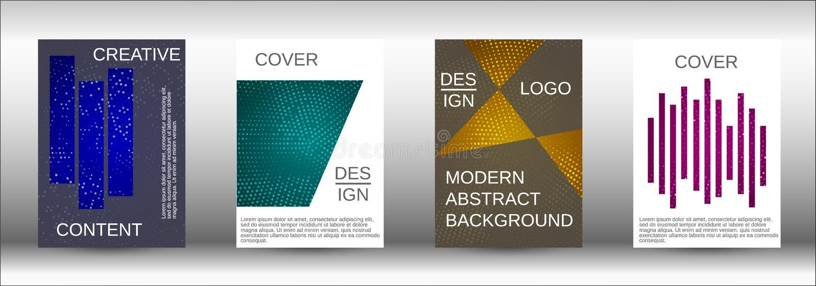Set of modern abstract covers. vector illustration