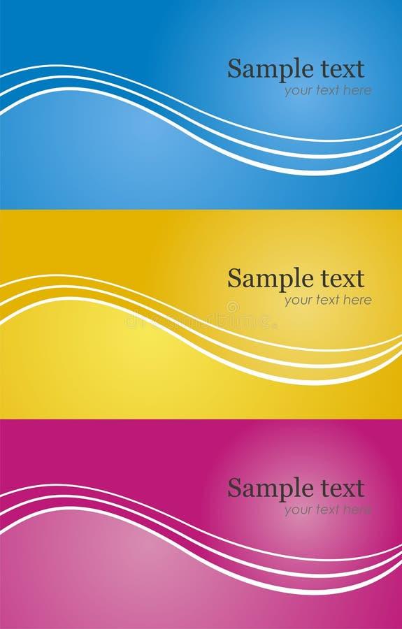 Set of modern background card in different color. Abstract vector modern background set in different color stock illustration
