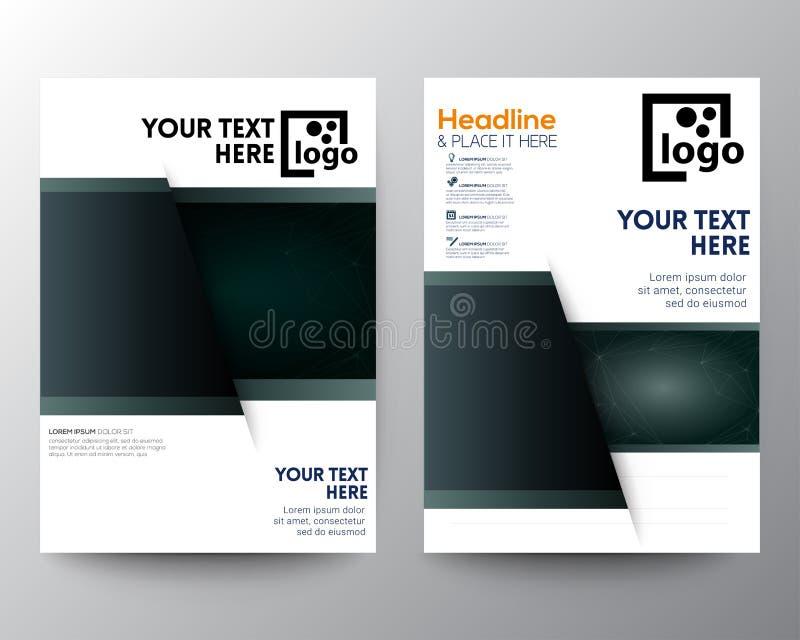 Set of modern brochure flyer vector illustration