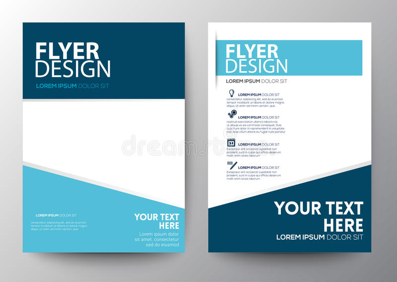 Set of modern brochure template flyer vector illustration