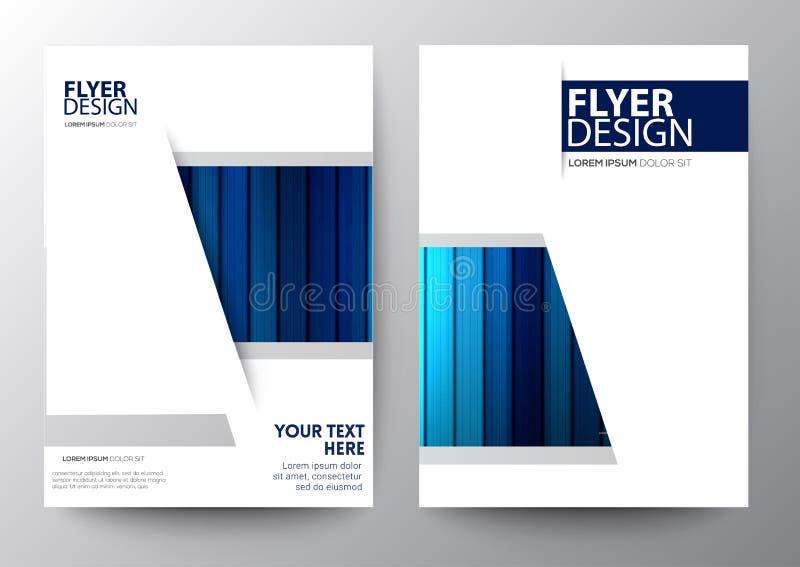 Set of modern brochure template flyer royalty free illustration