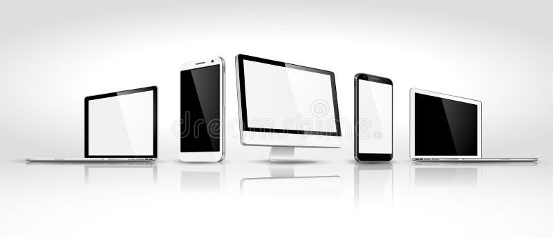 Set of modern devices isometric. Vector. Design of modern devices isometric. Vector illustration vector illustration