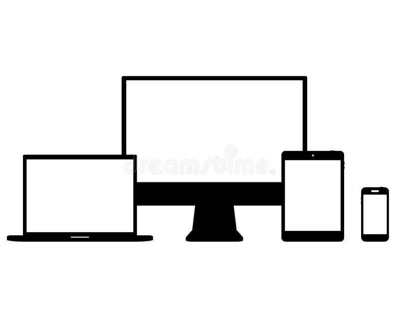 Set of Modern Digital devices Electronic vector stock illustration