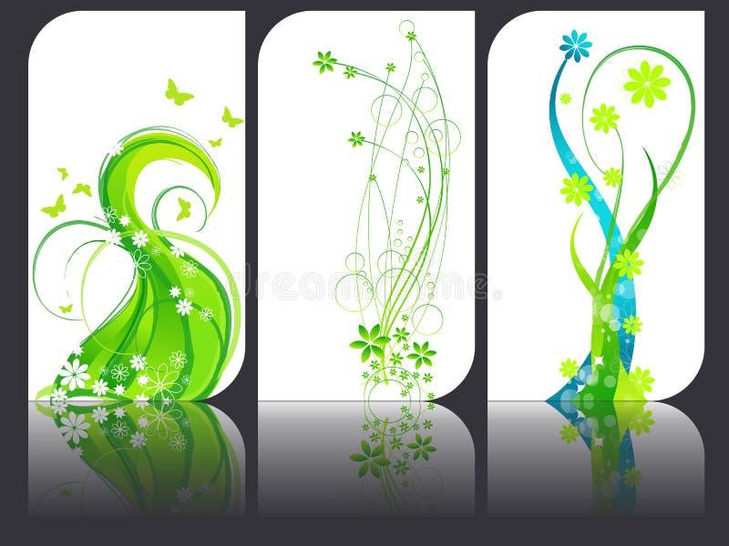 Set of modern elegant business cards stock illustration