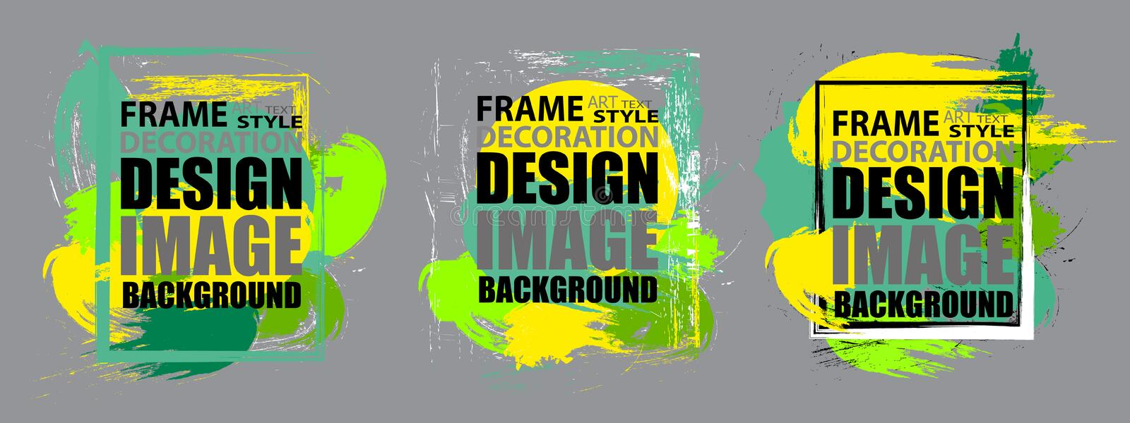 Set modern frame for text. Dynamic geometric colorful design elements for a flyer, business cards, brochures, presentations, etc. Vector illustration vector illustration