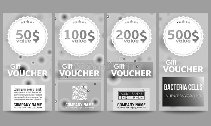 Set Of Modern Gift Voucher Templates. Molecular Stock Vector ...
