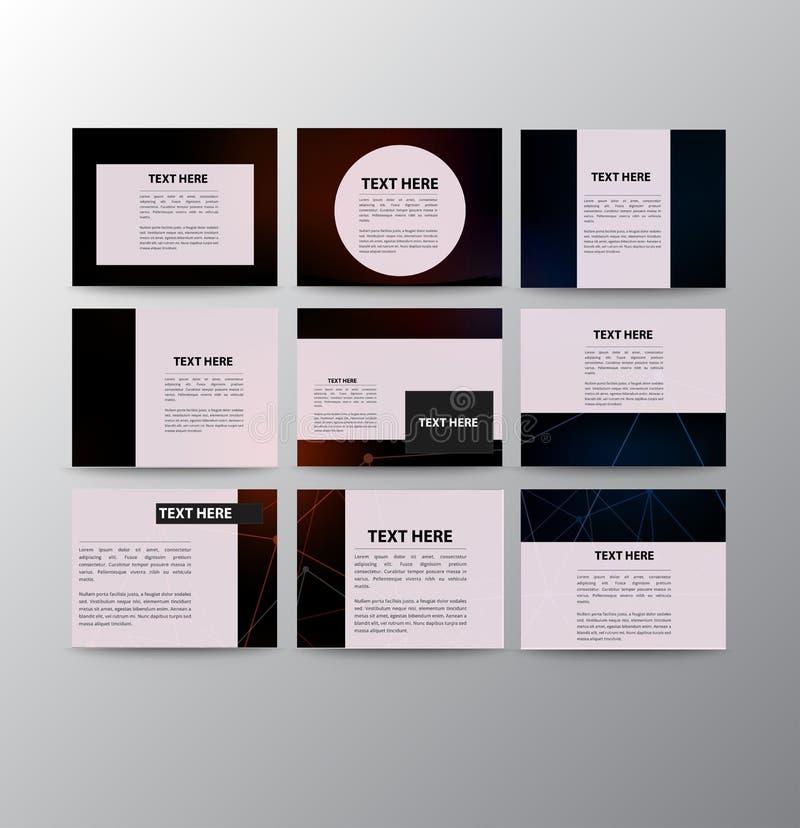 Set of modern presentation template flyer royalty free illustration