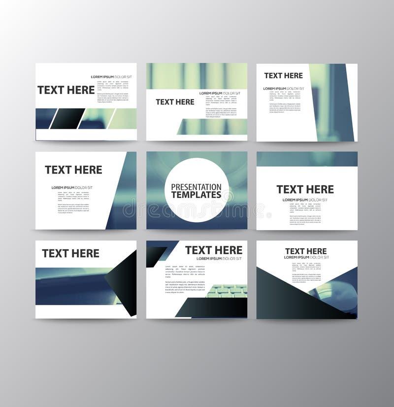 Set of modern presentation template flyer vector illustration