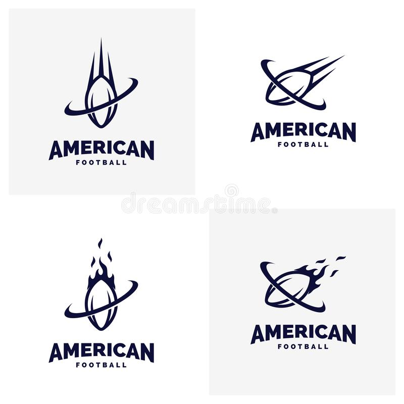 Set of Modern professional american football logo for sport team.  vector illustration