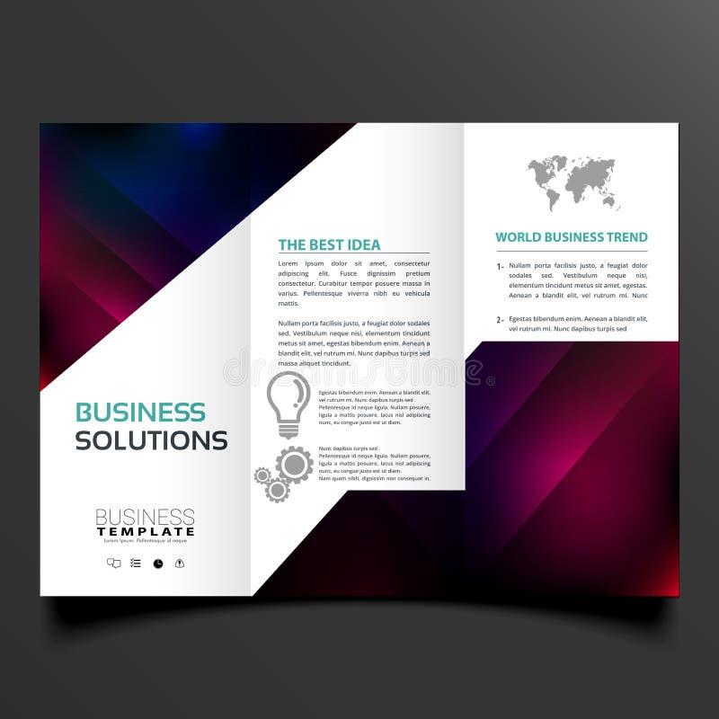 Set of modern trifold brochure flyer stock illustration